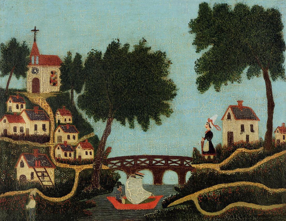 Landscape with Bridge 1875-1877 | Henri Rousseau | Oil Painting