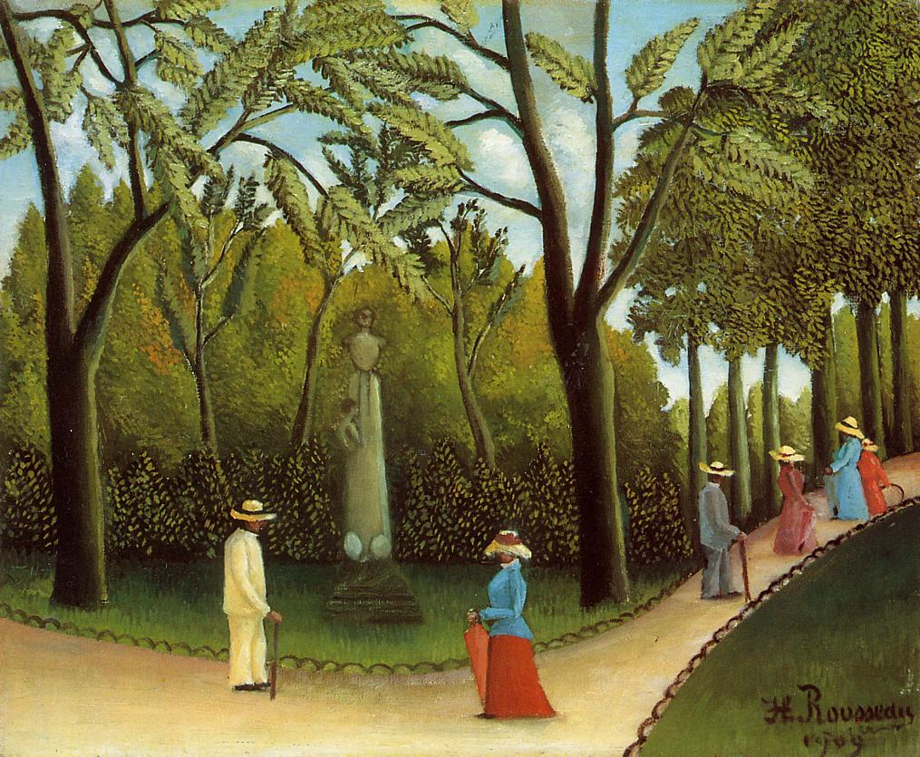 Luxembourg Garden 1909 | Henri Rousseau | Oil Painting