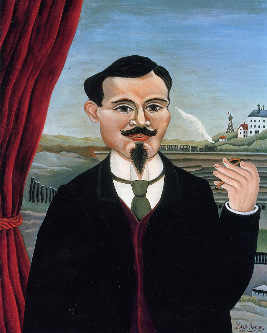 Portrait  of  Leon-Paul  Fargue 1896 | Henri Rousseau | Oil Painting