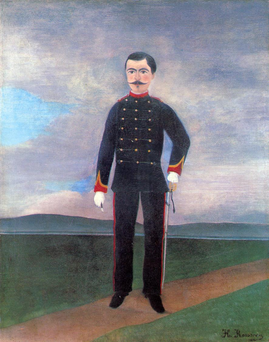 Portrait of Frumence Biche in Uniform 1892-1893 | Henri Rousseau | Oil Painting