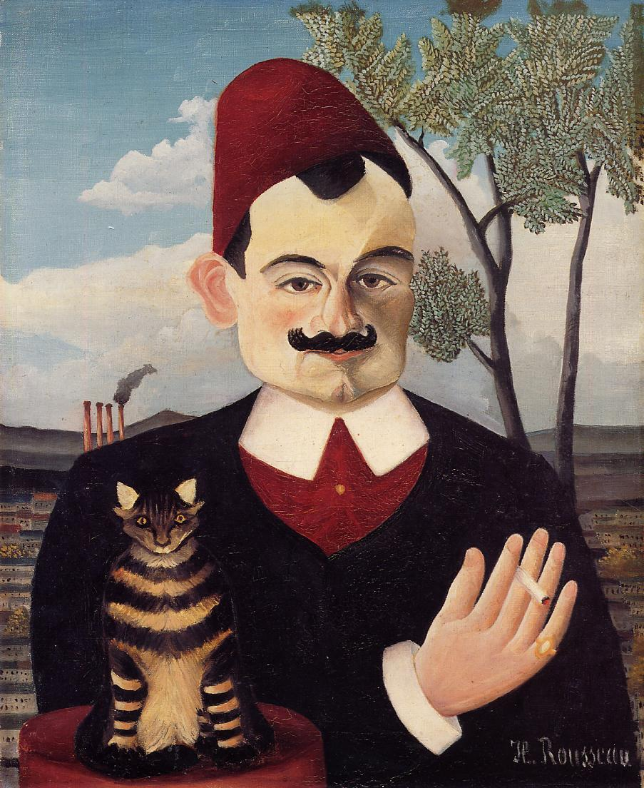 Portrait of Mr X (Pierre Loti) 1905-1906 | Henri Rousseau | Oil Painting
