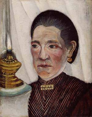 Portrait of the Artists Second Wife with a Lamp 1903 | Henri Rousseau | Oil Painting