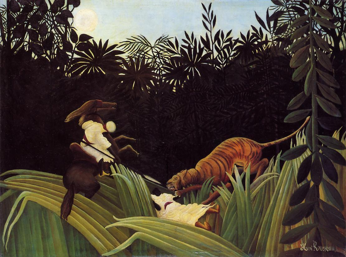 Scout Attacked by a Tiger 1904 | Henri Rousseau | Oil Painting
