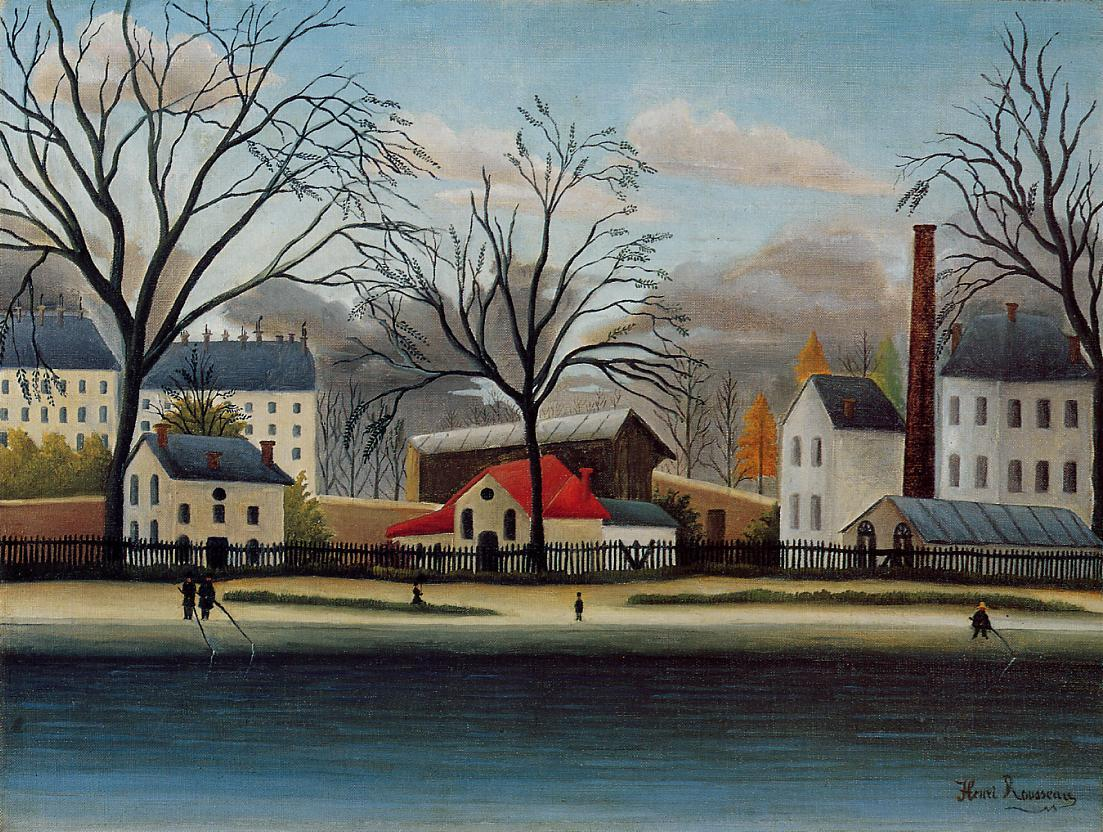 Suburban Scene 1896 | Henri Rousseau | Oil Painting