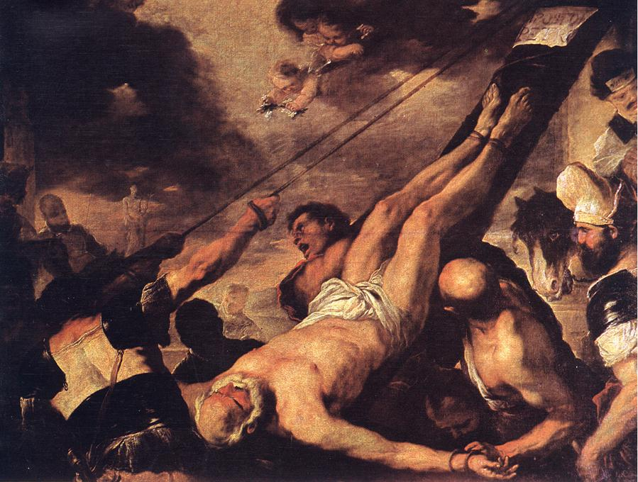 Crucifixion Of St Peter 1660 | Luca Giordano | Oil Painting