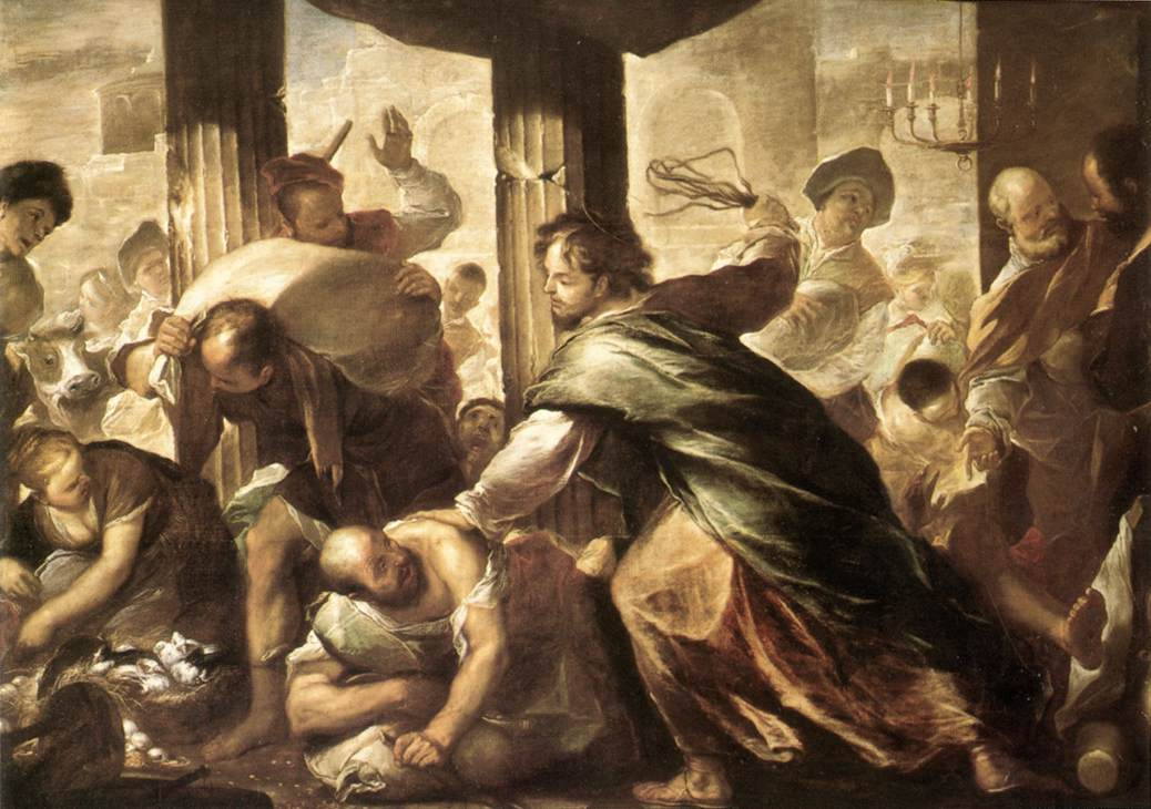 Christ Cleansing The Temple | Luca Giordano | Oil Painting