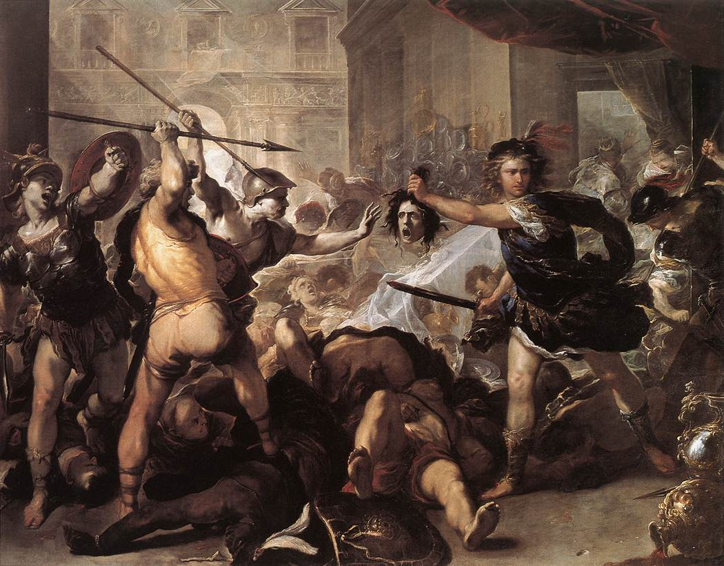 Perseus Fighting Phineus And His Companions 1670 | Luca Giordano | Oil Painting