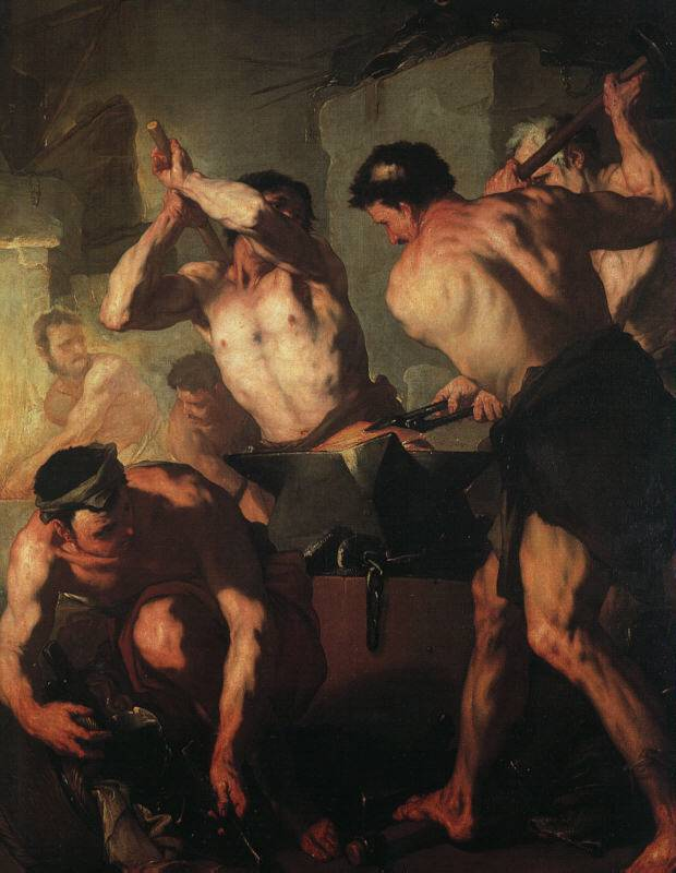The Forge Of Vulcan | Luca Giordano | Oil Painting