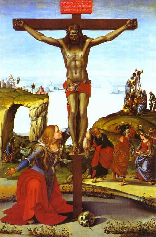 The Crucifixion With St Mary Magdalen 1495-1500 | Luca Signorelli | Oil Painting