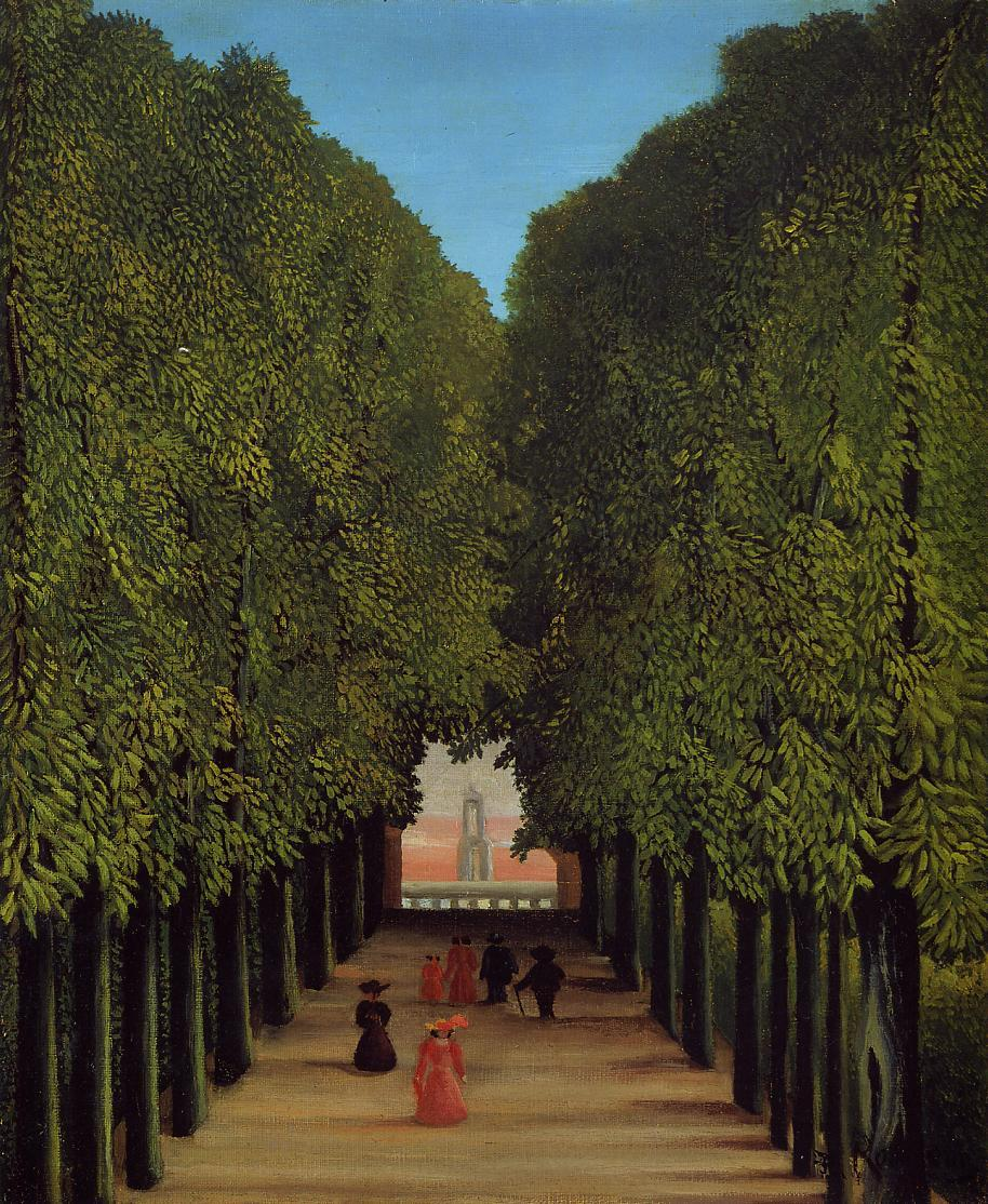The Avenue in the Park at Saint-Cloud 1908 | Henri Rousseau | Oil Painting