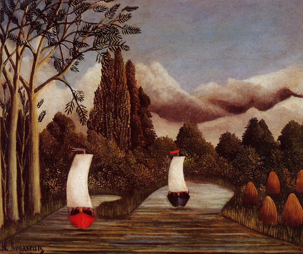 The Banks of the Oise 1908 | Henri Rousseau | Oil Painting