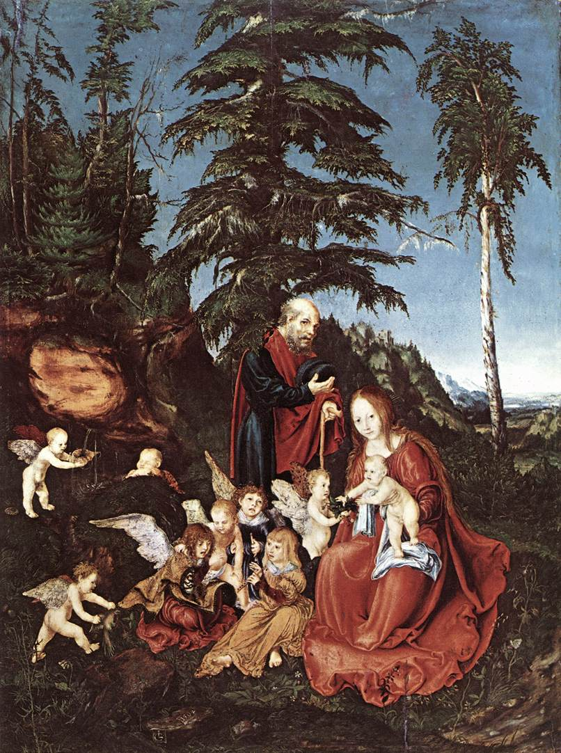 The Rest On The Flight Into Epypt | Lucas The Elder Cranach | Oil Painting