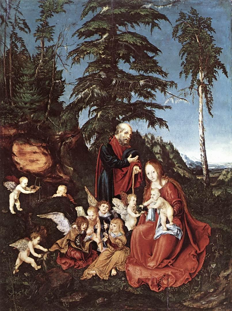 The Rest On The Flight Into Epypt | Lucas The Elder Cranach | Oil Painting