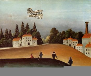 The Fishermen and the Biplane 1908   Henri Rousseau   Oil Painting