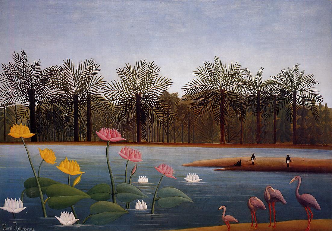 The Flamingos 1907 | Henri Rousseau | Oil Painting