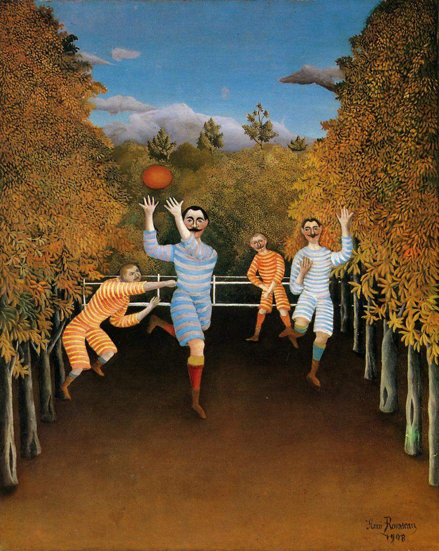 The Football Players 1908 | Henri Rousseau | Oil Painting