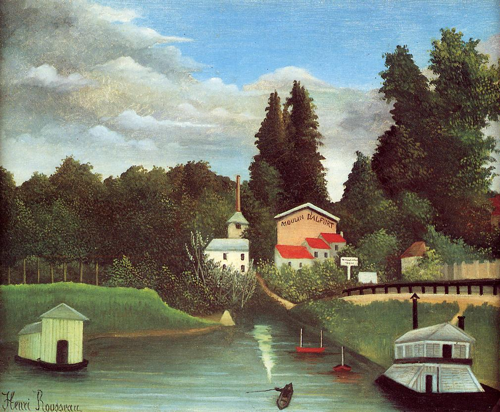The Mill at Alfort 1904-1905 | Henri Rousseau | Oil Painting