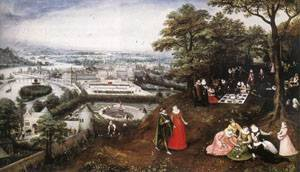 Landscape In Spring 1587 | Lucas Van Valkenborch | Oil Painting