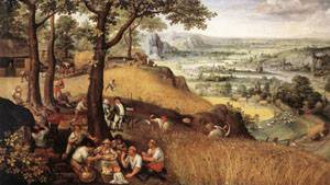 Landscape In Summer 1585 | Lucas Van Valkenborch | Oil Painting