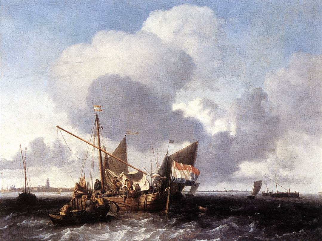Ships On The Zuiderzee Before The Fort Of Naarden 1660 | Ludolf Backhuysen | Oil Painting