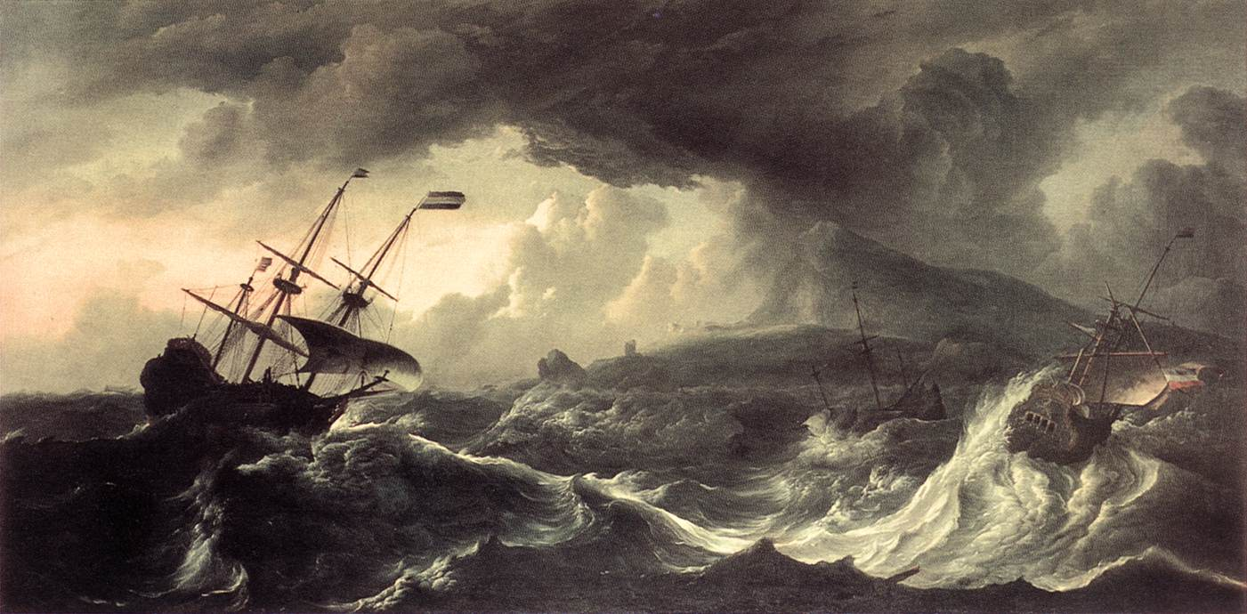 Ships Running Aground In A Storm 1690 | Ludolf Backhuysen | Oil Painting