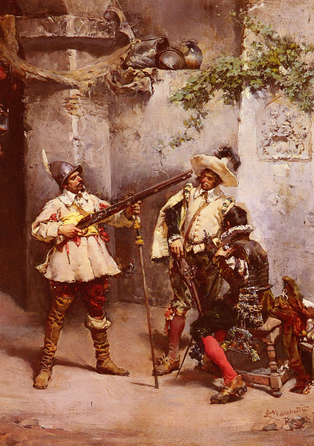 The Musketeers | Ludovico Marchetti | Oil Painting