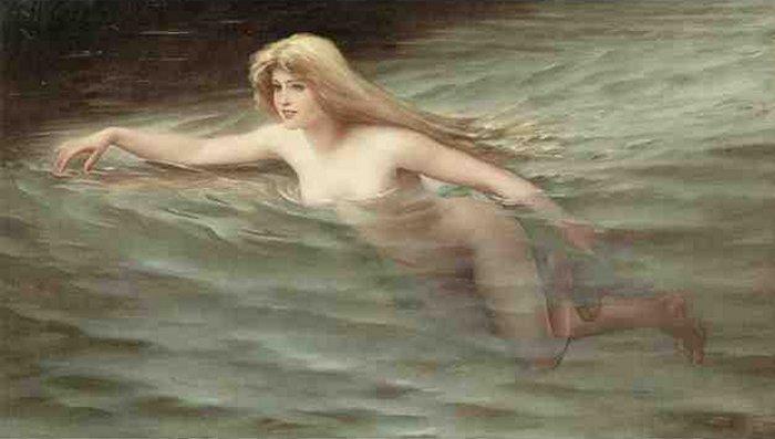 A Sea Nymph | Luis Ricardo Falero | Oil Painting