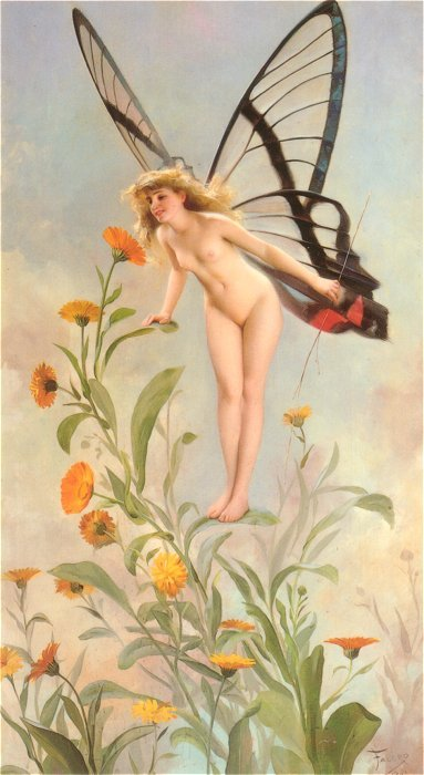 The Butterfly 1893   Luis Ricardo Falero   Oil Painting