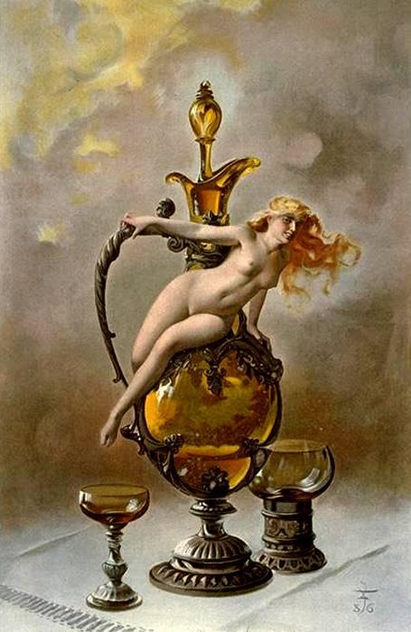 The Wine Of Tokai  1886 | Luis Ricardo Falero | Oil Painting