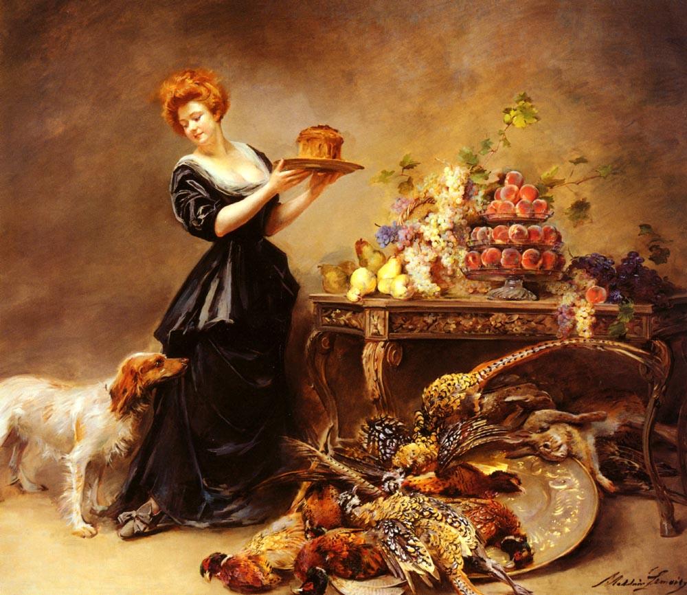 Allegorie De LAutomne | Madeleine Lemaire | Oil Painting