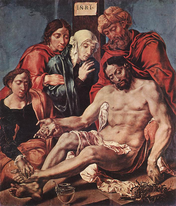 Lamentation Of Christ 1540-43 | Maerten Jacobsz Van Heemskerch | Oil Painting