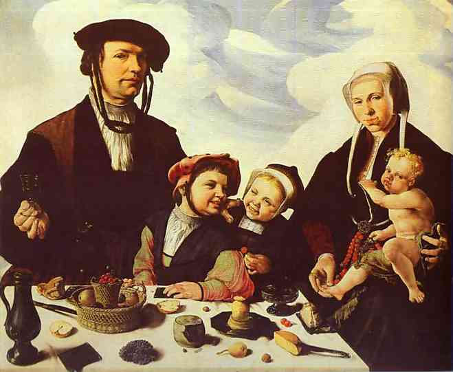 Family Portrait 1530 | Maerten Jacobsz Van Heemskerch | Oil Painting