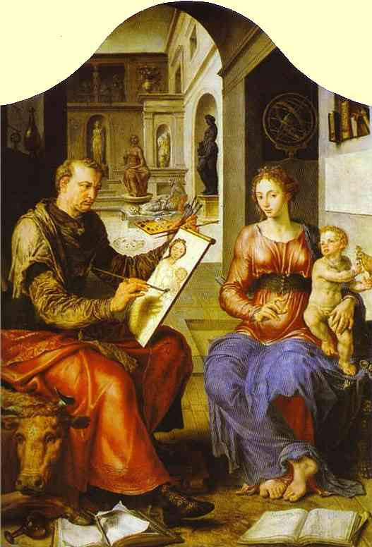 St Luke Painting The Virgin 1545-50 | Maerten Jacobsz Van Heemskerch | Oil Painting