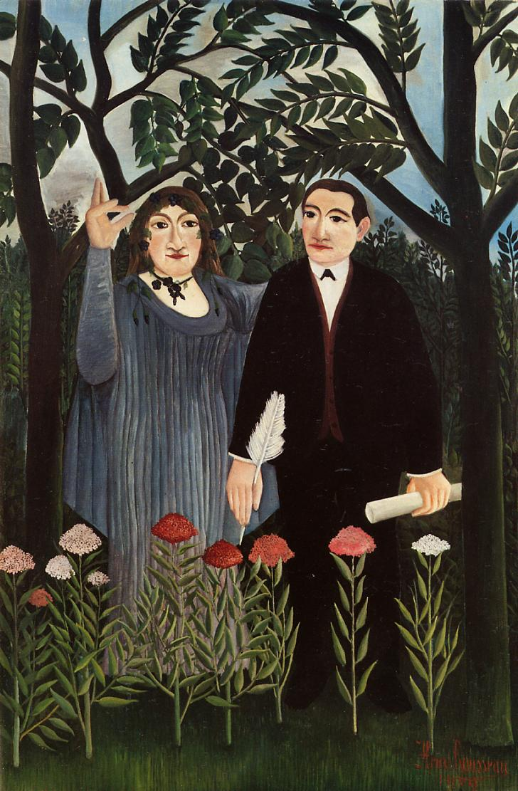 The Muse Inspiring the Poet 1909 | Henri Rousseau | Oil Painting