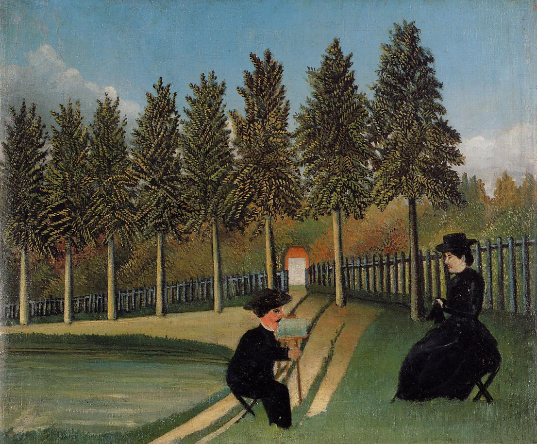 The Painter and His Wife 1899 | Henri Rousseau | Oil Painting