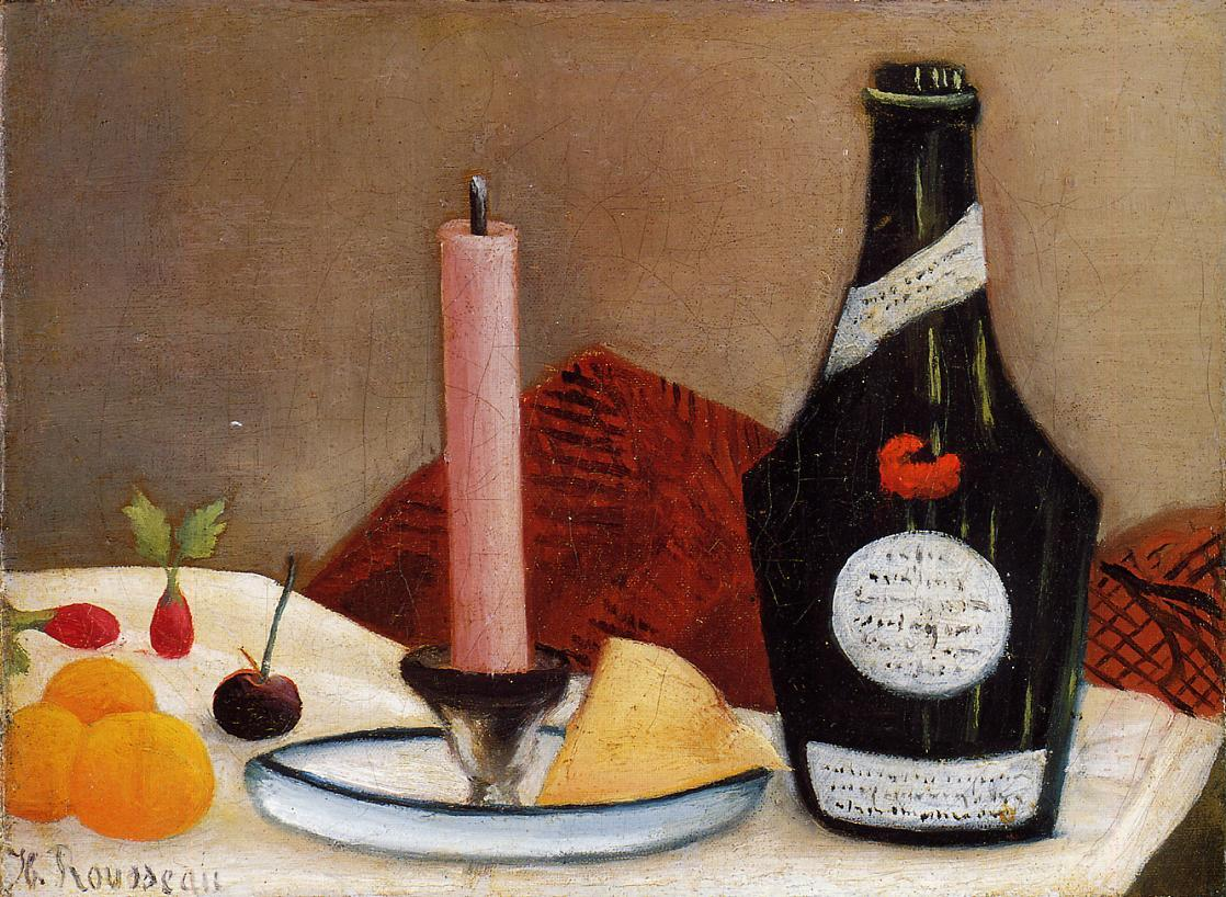 The Pink Candle 1909-1910 | Henri Rousseau | Oil Painting