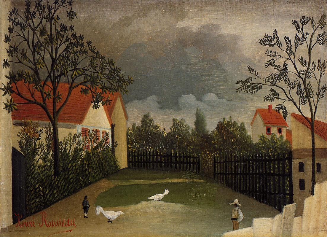 The Poultry Yard 1896-1898 | Henri Rousseau | Oil Painting