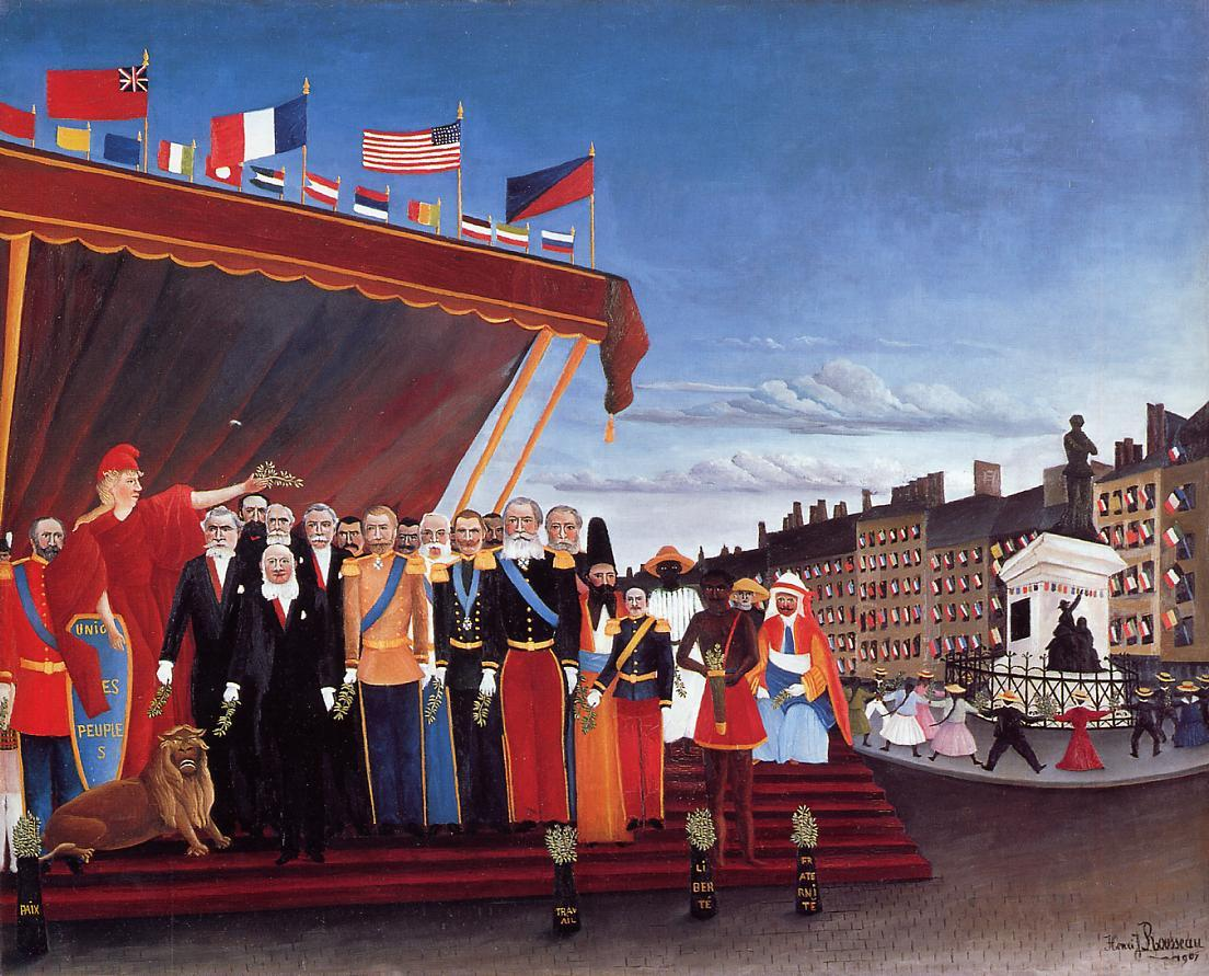 The Representatives of Foreign Powers Coming to Greet the Republic as a Sign of Peace 1907 | Henri Rousseau | Oil Painting