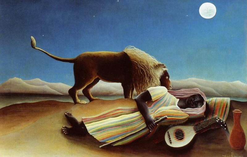 The Sleeping Gypsy 1897 | Henri Rousseau | Oil Painting