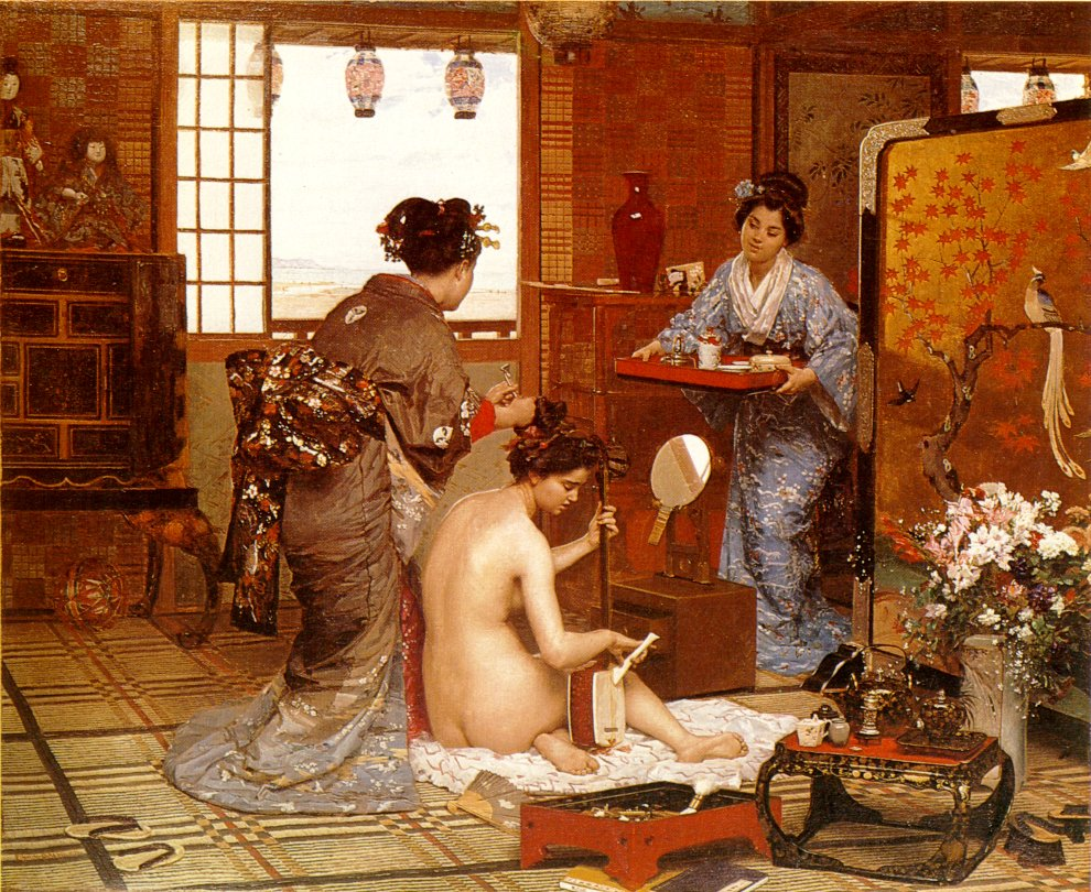 The Japanese Toilette 1873 | Marie Francois Firmin Girard | Oil Painting
