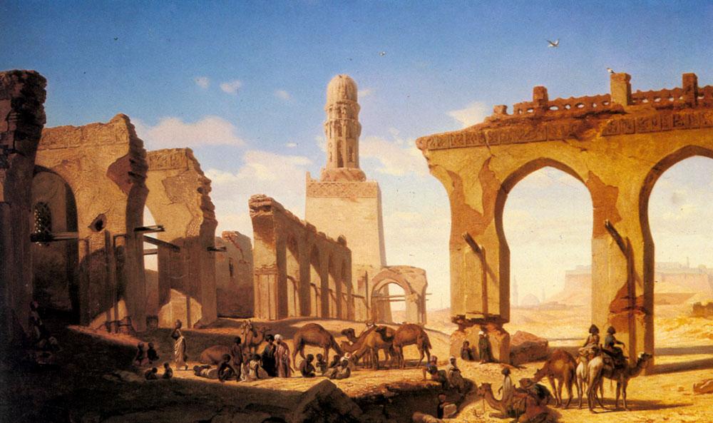 Prosper Georges AntoineRuines De La Mosquee Du Cal   Marilhat   Oil Painting