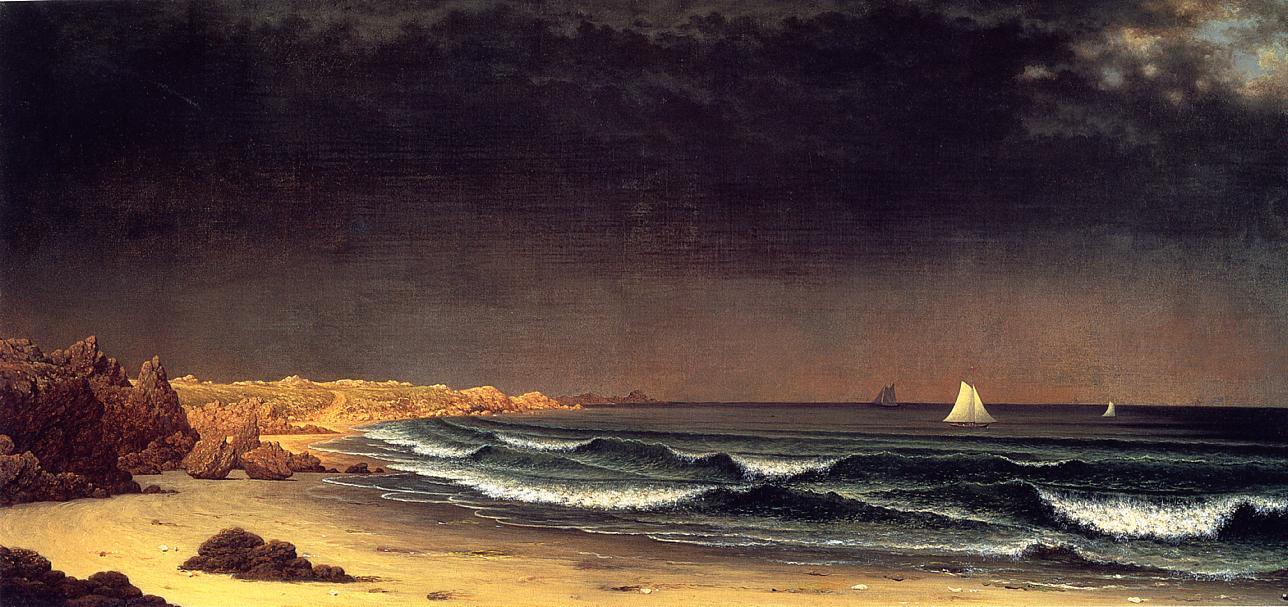Approaching Storm Beach near Newport 1861-1863 | Martin Johnson Heade | Oil Painting