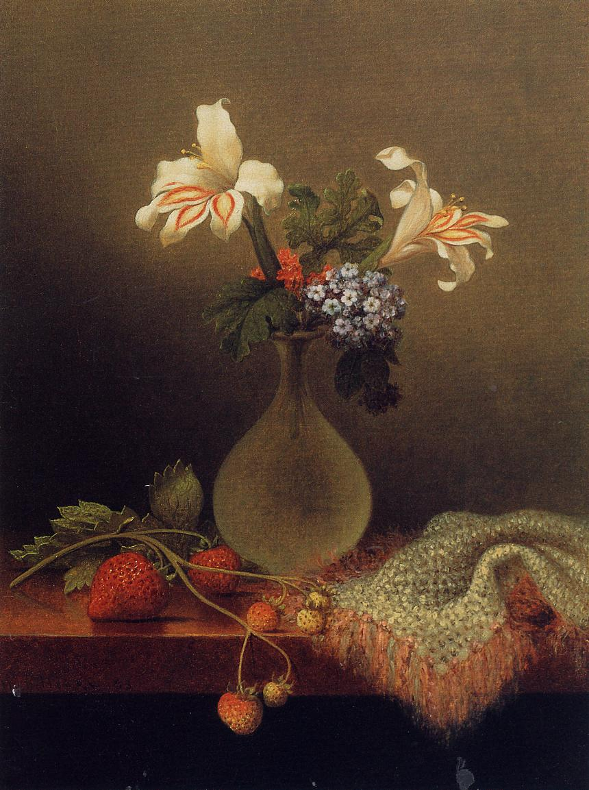 A Vase of Corn Lilies and Heliotrope 1863 | Martin Johnson Heade | Oil Painting