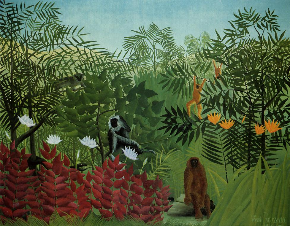 Tropical Forest with Apes and Snake 1910 | Henri Rousseau | Oil Painting
