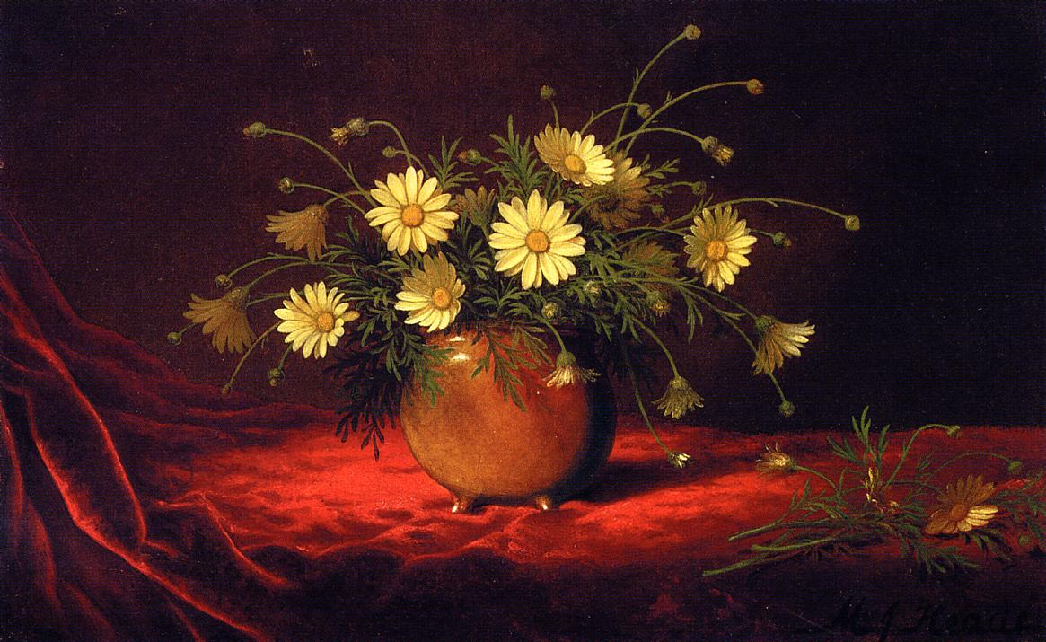 Yellow Daisies in a Bowl 1883-1995 | Martin Johnson Heade | Oil Painting