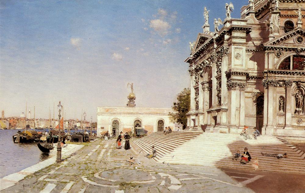 A View of Santa Maria Della Salute Venice | Martin Rico y Ortega | Oil Painting