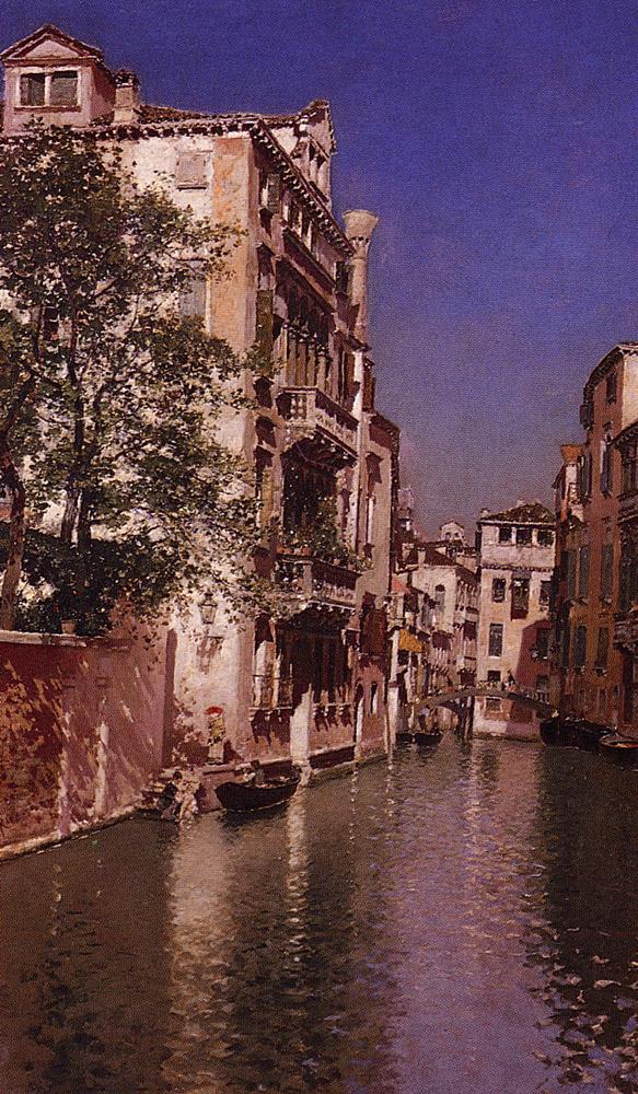 Canal San Giovane | Martin Rico y Ortega | Oil Painting