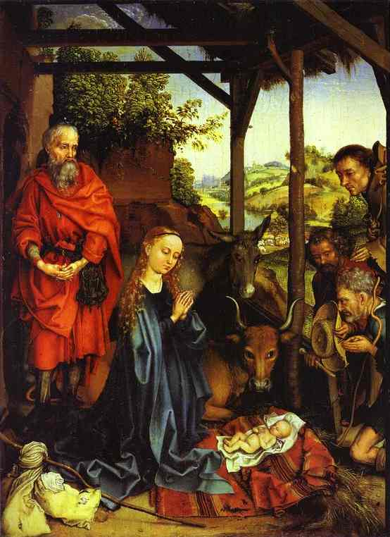 Adoration Of The Shepherds 1480 | Martin Schongauer | Oil Painting