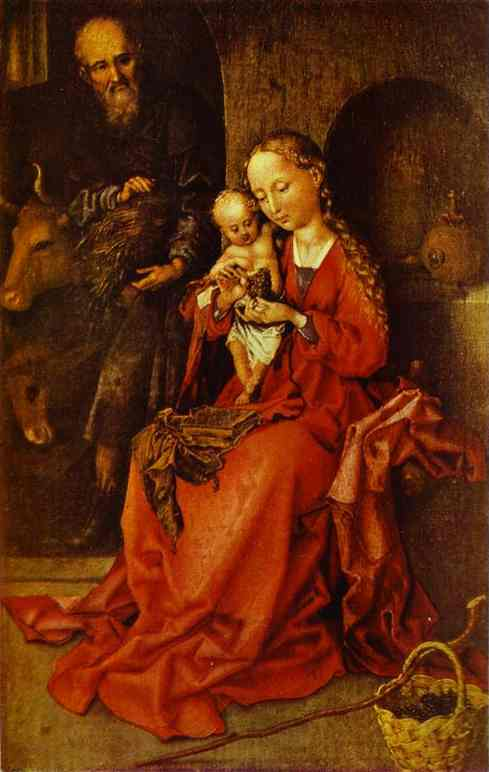 The Holy Family 1480s | Martin Schongauer | Oil Painting
