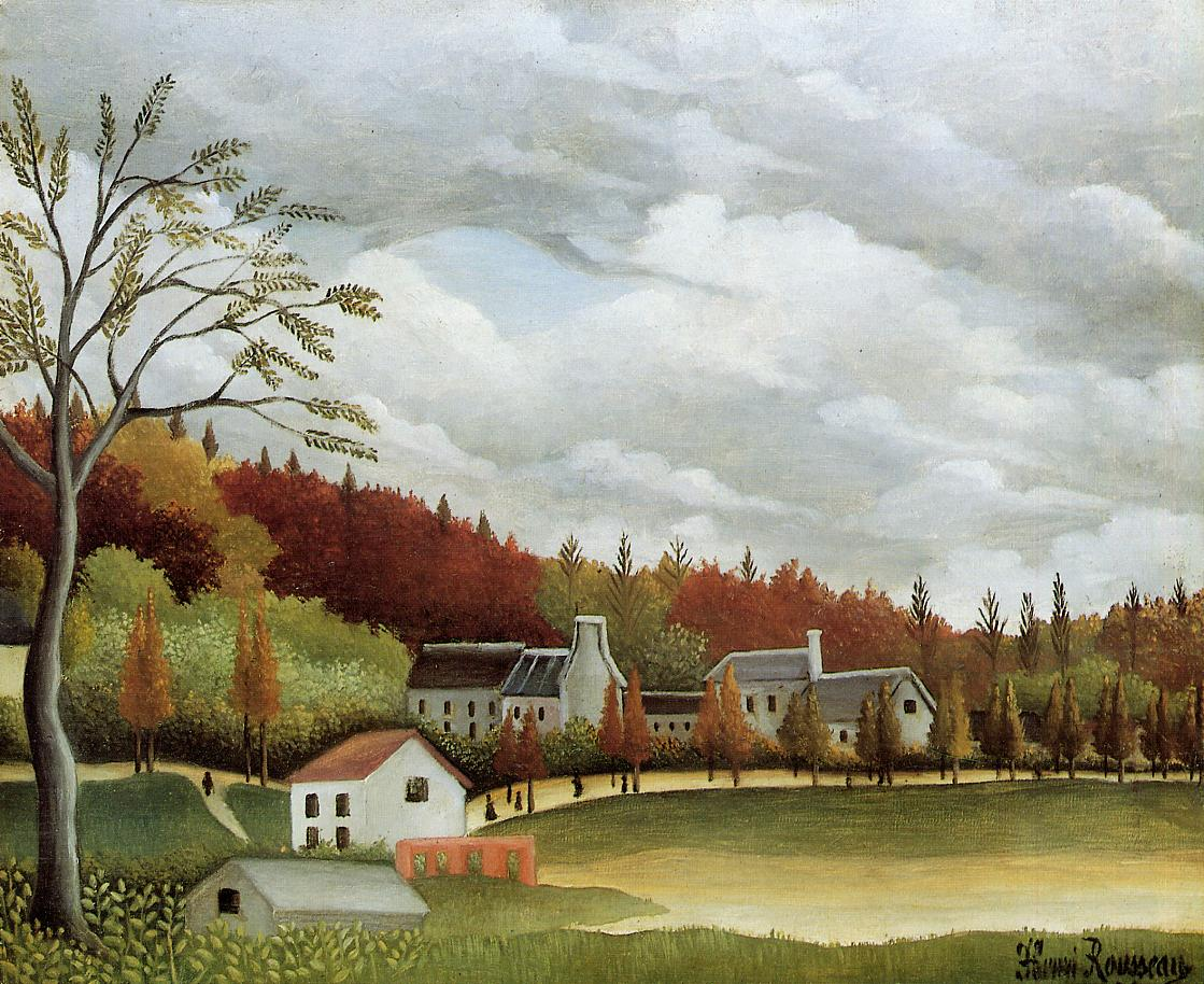 View of Bievre-sur-Gentilly | Henri Rousseau | Oil Painting